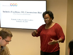 Assistant Vice Chancellor for Equity, Diversity and Inclusion Sandra L. Barnes presents a workshop about unconscious bias. These workshops are intended to help the university community develop strategies to work past quick judgments and prejudices and appreciate people for who they are.