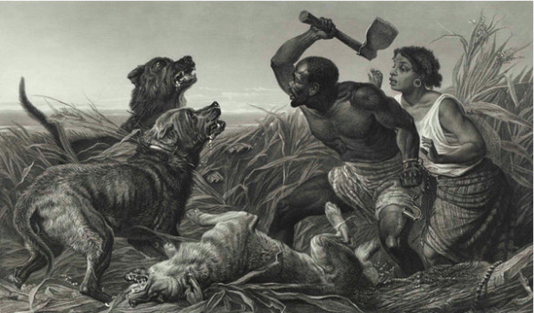 """The Hunted Slaves"" by Richard Ansdell (1815-1885)"
