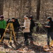 3-28-2015 - Location photos of Prof. David Furbish's EES 260 geomorphology class field trip to Montgomery Bell State Park. Students out in the creek with equipment surveying river bed profiles and getting chilly & wet. (Vanderbilt University / Steve Green)