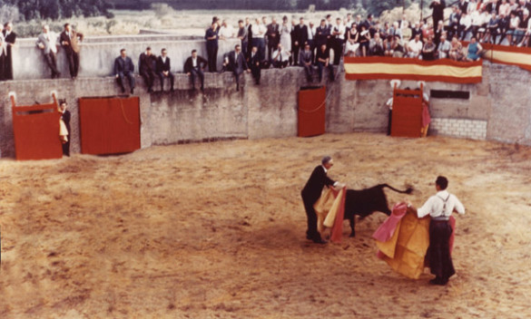 Dewey Daane in the bullring near Toledo, Spain, in 1966.