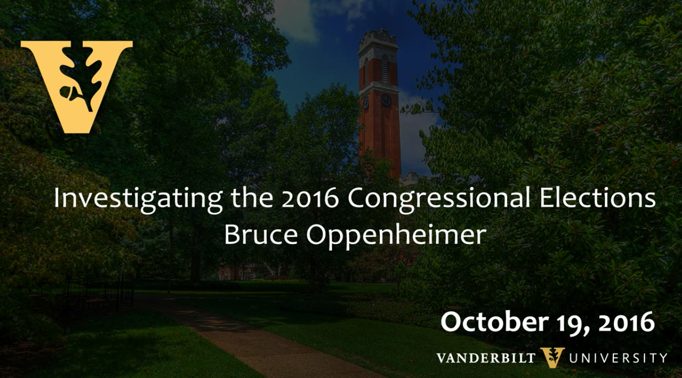 Election 2016: Bruce Oppenheimer, 10.19.16
