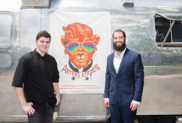 Vanderbilt student Zack Freeling (left) and Rabbi Shlomo Rothstein launched the first campus kosher food truck, Aryeh's Kitchen. (Vanderbilt University)