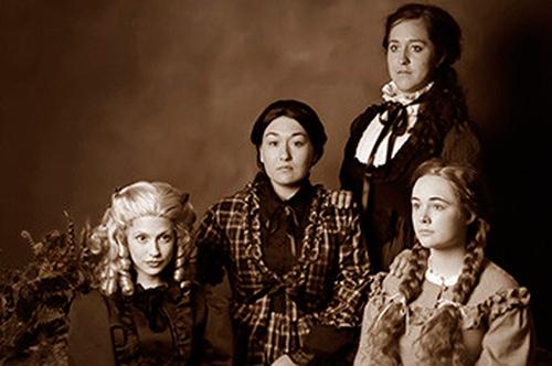"From left: Danielle Bavli as Amy, Maria Servodidio as Meg, Samantha Long as Jo, and Lauren Urquhart as Beth in Vanderbilt Opera Theater's production of Mark Adamo's ""Little Women."" (Vanderbilt University)"