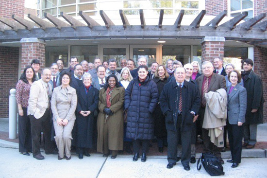 "Attendees (including James Hudnut-Beumler) at the 2007 ""New Manana"" meeting where Vanderbilt and other institutions formed the Hispanic Theological Initiative consortium."