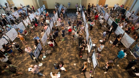 The third annual Vanderbilt Undergraduate Research Fair boasted more than 140 poster presentations and more than 330 students, faculty, staff and community members in attendance. (Joe Howell/Vanderbilt)