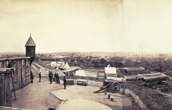 Fort Negley, December 1864. Photo by Jacob Coonley (Library of Congress)