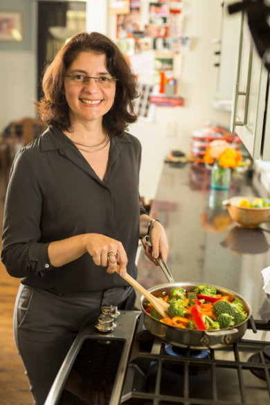 Suzana Herculano-Houzel was photographed in the kitchen of Diana Duren. (Daniel Dubois/Vanderbilt)