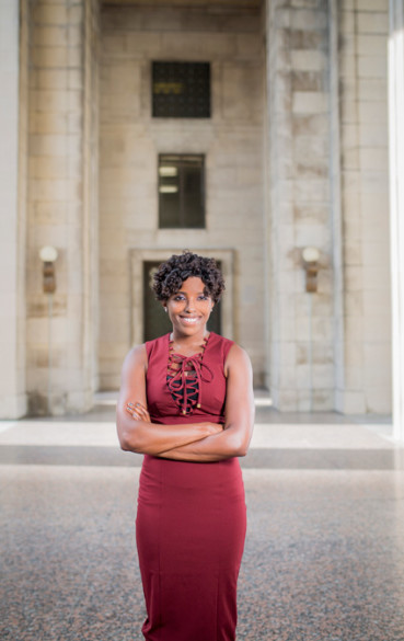 Sharece Thrower was photographed at the War Memorial Building and Legislative Plaza. (Susan Urmy/Vanderbilt)