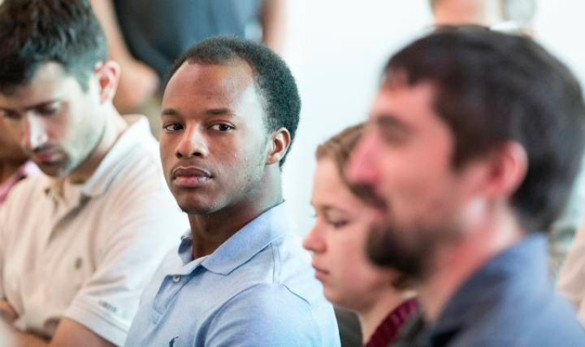 About 30 graduate students and faculty attended a Q&A with U.S. Rep. Chuck Fleischmann Oct. 4. (Joe Howell/Vanderbilt)