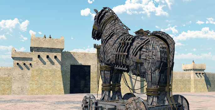 drawing of trojan horse