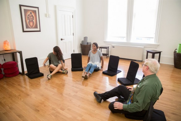 The new Center for Student Wellbeing includes spaces for meditation and reflection. (john Russell/Vanderbilt)