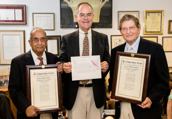 L-r: A.V. Ramayya, Rep. Jim Cooper and Joseph Hamilton. (Joe Howell / Vanderbilt)