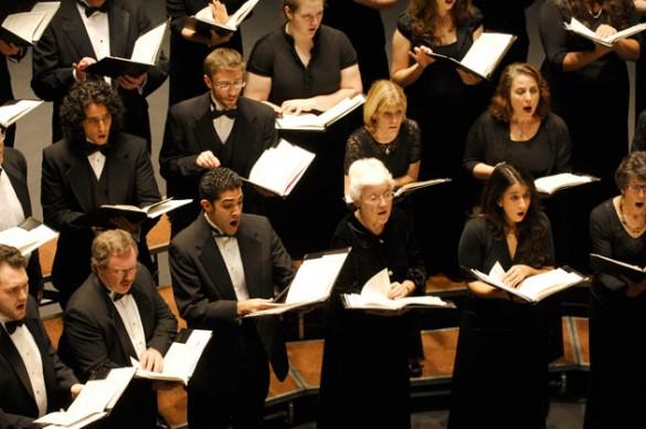 The Vanderbilt Community Chorus in concert. (Vanderbilt University)