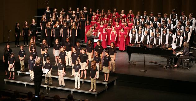 The Blair Children's Chorus programs in concert. (Vanderbilt University)