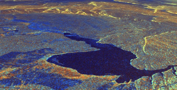View of caldera taken from space