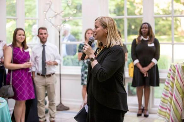 Nashville Mayor Megan Barry thanked MNPS Blue Ribbon Teachers for their exemplary work. (Vanderbilt University)