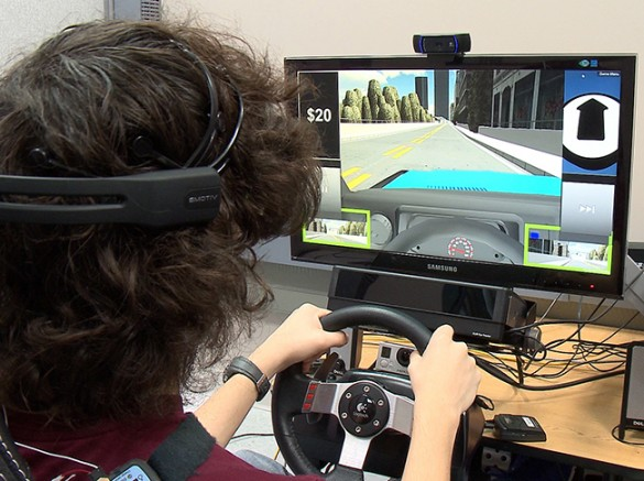 Brandon Roberson -- a 16-year old with Asperger's Syndrome -- has been participating in the preliminary studies of the driving simulator. (Vanderbilt University)