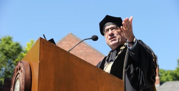 chancellor at podium