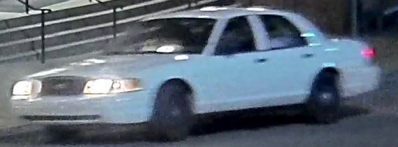 security footage of white car