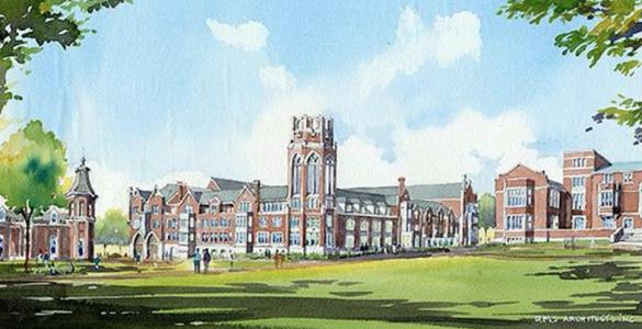 Vanderbilt Barnard, Vanderbilt University's newest residential college, is scheduled to open in the summer of 2017. (Hastings Architecture Assoc. /David M. Schwarz)