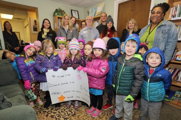 The Shooting Stars, a pre-K class at the Vanderbilt Child and Family Center's Edgehill location, made a donation to the Faculty and Staff Hardship Fund Jan. 27.