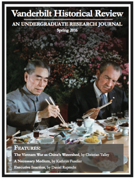magazine cover featuring nixon eating with zhou enlai in china