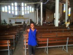 Shakiya in Rwandan church