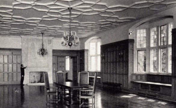 Alumni Hall's historic Memorial Room.