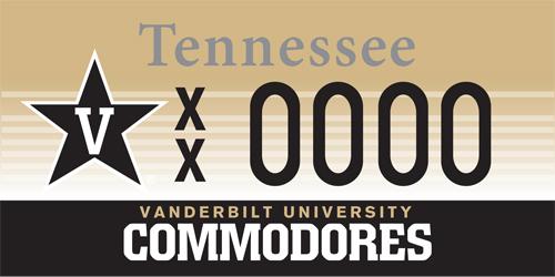 New license plates support Vanderbilt Athletics | Vanderbilt