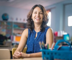 Jeannette Mancilla-Martinez, associate professor of literacy instruction (Daniel Dubois/Vanderbilt)