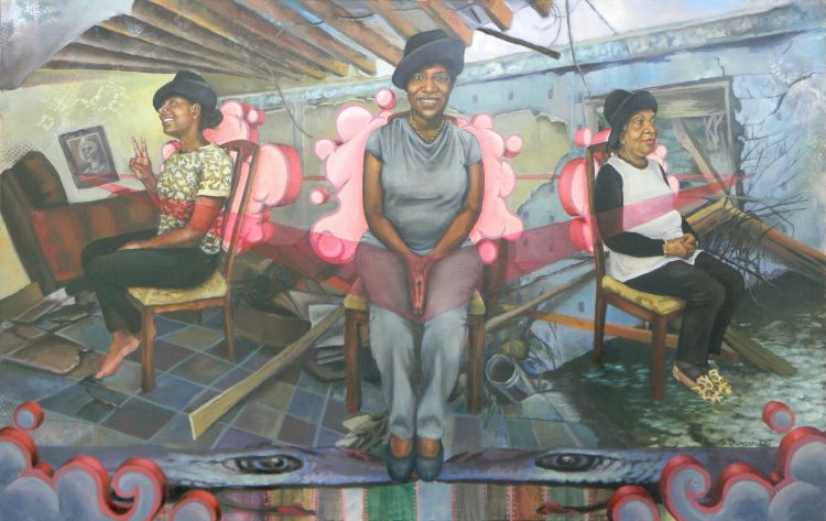 painting of three African American women