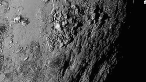 gray uneven planetary surface