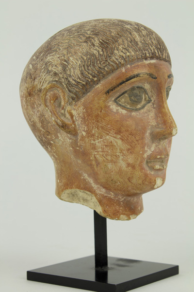 """Head of a Boy,"" Anonymous Coptic, circa 4th-5th century.The Peabody College Collection, Vanderbilt University,1979."