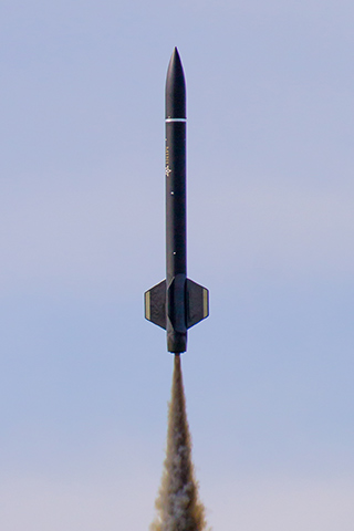 rocket in flight