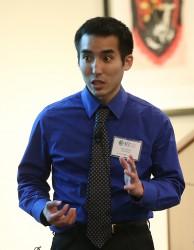 Daniel giving presentation