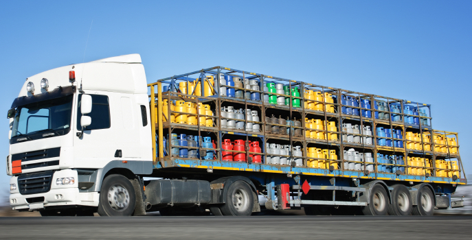 truck carrying chemicals