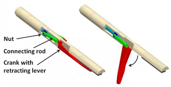 CAD drawing of retractor