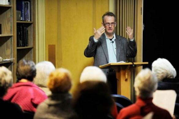 Mark Jarman lecturing