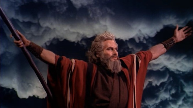 """Still image of Moses from """"The Ten Commandments"""""""