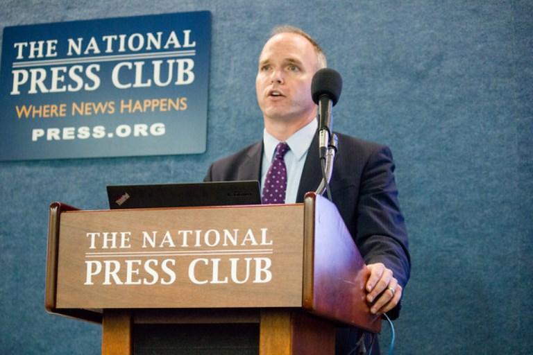 Alan Wiseman at podium