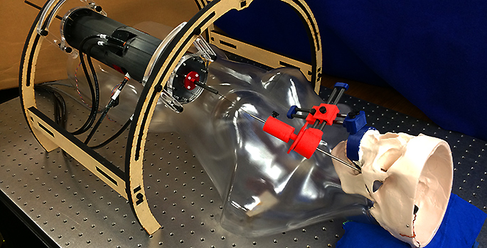Robotic device attache to dummy patient