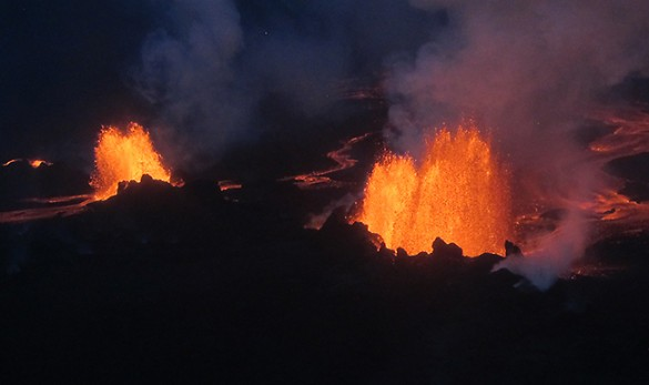 lava fountains