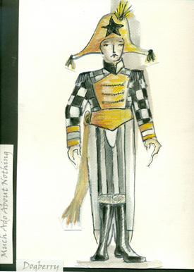Alexandra Sargent's costume design for the comic character Dogberry.