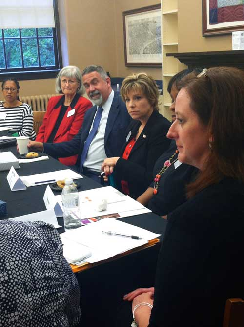 A panel of teachers and parents shared their insights with Yudin (Joan Brasher/Vanderbilt)