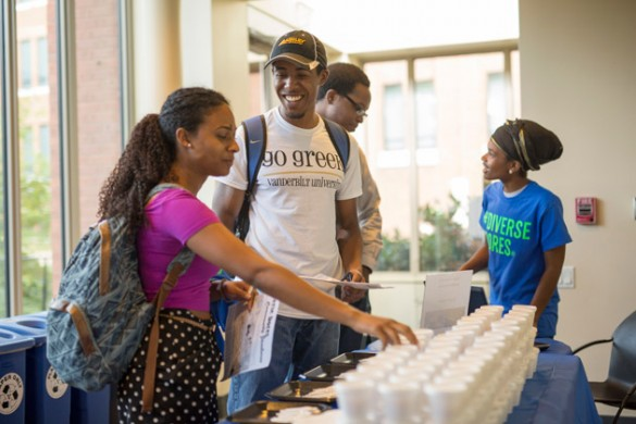 Students visit the Bishop Joseph Johnson Black Cultural Center Sept. 3. (Daniel Dubois/Vanderbilt)
