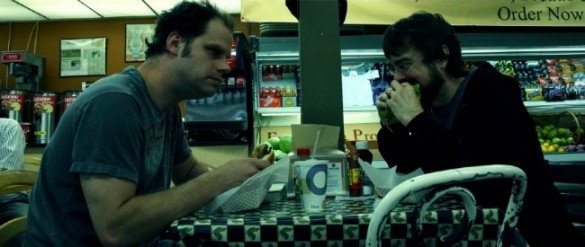 Richter and DK eating lunch