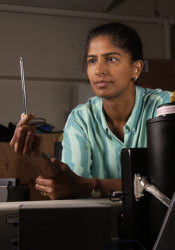 Anita at work in her lab