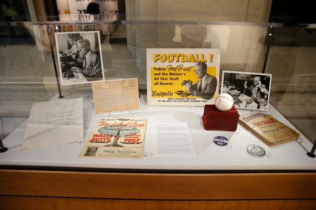 Photo of Fred Russell memorabilia