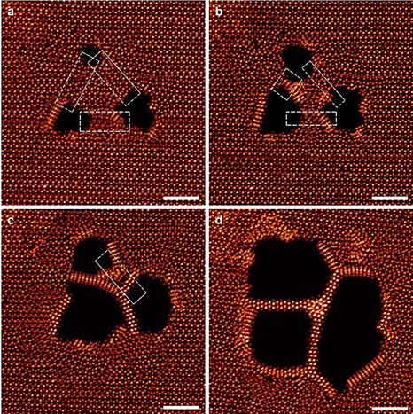 electron micrographs from fabrication process