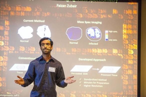 Faisan Zubair giving presentation